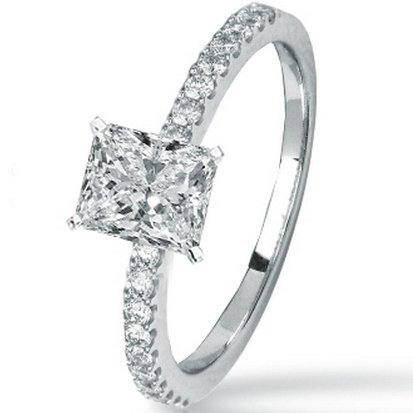 1.24 Carat GIA Certified Radiant Cut / Shape