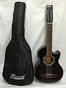 12 string bajo sexto acoustic electric guitar with gig bag musical instruments. Black Bedroom Furniture Sets. Home Design Ideas