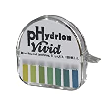 Micro Essential Lab 67 Hydrion Vivid Short Range Urine and Saliva pH Test Paper Dispenser, 5.5 - 8.0 pH, Single Roll