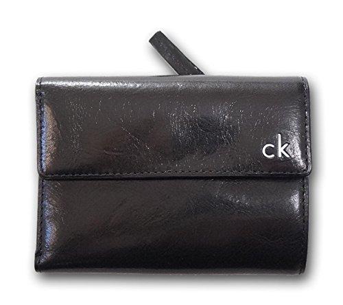 ( カルバンクライン ) Calvin Klein 牛革 財布 二つ折り財布 ブラック