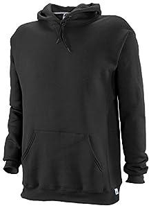 Russell Athletic Men's Dri Power Hooded Pullover Fleece Sweatshirt, Black, Large