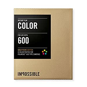 Impossible PRD2934 Color Film for Polaroid 600-Type Camera Frame (Gold)