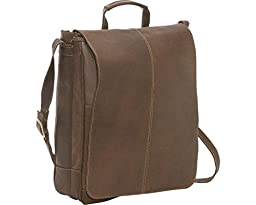 Le Donne Leather Distressed Leather 17'' Laptop Messenger (Chocolate)
