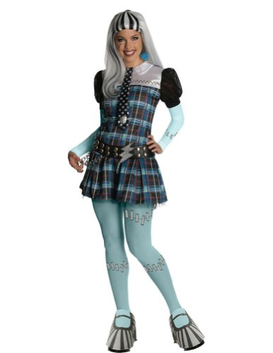 Adult-Costume Monster High Frankie Stein Adult Costume Sm Halloween Costume