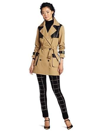 Rebecca Minkoff Women's Smith Coat, Tan/Black, X-Small