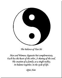 8x10 Yin Yang Print (Brown/White)