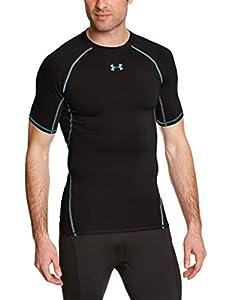 Under Armour Armour Hg T-Shirt manches courtes Homme Noir/Acier FR : L (Taille Fabricant : LG)