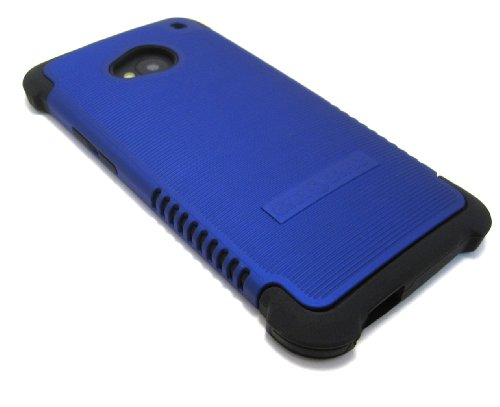 Cell-Nerds Nerdshield Grip Case Cover For The Htc One M7 And Pn07 (2013) - Cell-Nerds Packaging (Blue On Black)