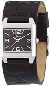s.Oliver Damen-Armbanduhr Analog Quarz Leder SO-2863-LQ