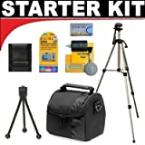 Deluxe Smart Shop UK Accessory STARTER KIT For The JVC Everio GZ-HD320, HD300, HM200, MS130, MS120, MS100, MG255, MG155, MG130 High Definition Camcorders