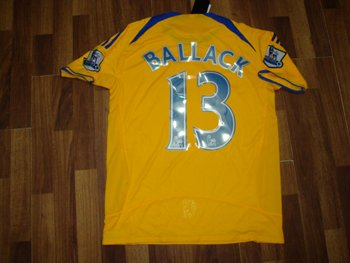 08-09 CHELSEA FC AWAY JERSEY BALLACK + FREE SHORT (SIZE L)