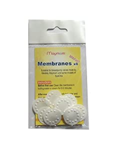 Replacement Membranes for Medela Breastpump for Medela Pump in Style, Lactina, Swing and Symphony Pumps; Interchangeable with Medela Membranes; Can be Used with Medela Valves and Maymom Valves; Safe in Medela Micro Steam Bag; Can Replace Medela Part # 87088; 8 pc/pack; Made by Maymom