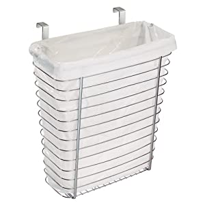 InterDesign Axis Over the Cabinet, Waste/Storage Basket, Chrome