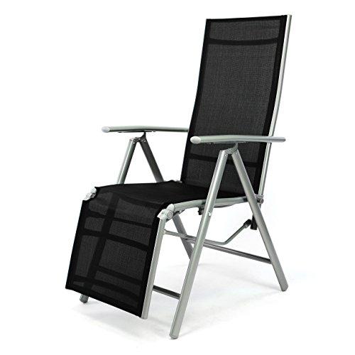 Nexos-ZGC34464-Stuhl-Liegestuhl-Klappstuhl-mit-Fusttze-fr-Garten-Terrasse-aus-Aluminium-Textilene-schwarz-silber