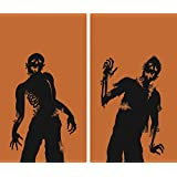 WOWindow Posters Ghoulies Silhouettes Halloween Window Decoration, Includes Two 3 by 5-FeetPosters, Orange/Black