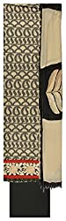 Royal Women's Cotton Unstitched Dress Material (Black and Off-White)