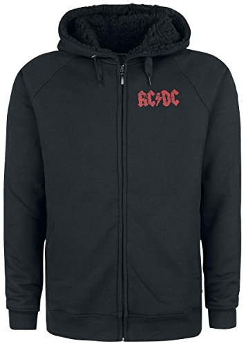 AC/DC Rock Or Bust Studio Recordings Felpa con cappuccio nero nero XL