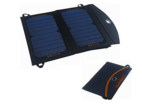 ソーラーパッド 大容量10000mAhリチウムバッテリー付
