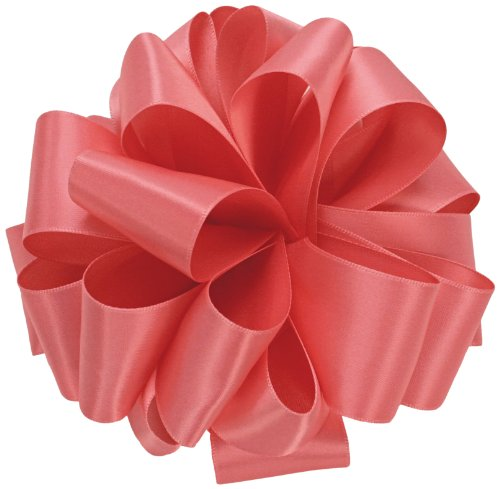 Offray Single Face Satin Craft Ribbon, 7/8-Inch by 100-Yard Spool, Coral Rose