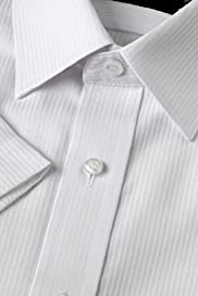 Cotton Rich Non-Iron Short Sleeve Herringbone Shirt