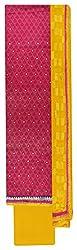 Sanskriti Women's Chanderi Silk Unstitched Dress Material (Pink and Yellow)