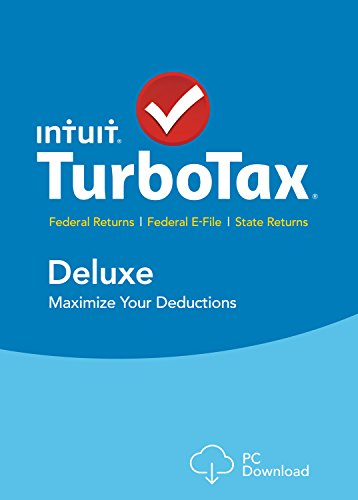 TurboTax Deluxe 2015 Federal + State Taxes + Fed Efile Tax Preparation Software – PC Download