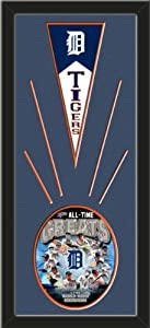 Detroit Tigers Wool Felt Mini Pennant & Detroit Tigers All Time Greats Composite... by Art and More, Davenport, IA