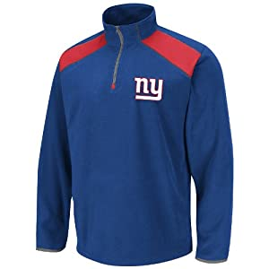 New York Giants Blue Fade Route IV (4) 1 4 Zip Micro Chiller Fleece Jacket by VF