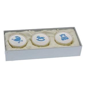 Juliana Silverplated Set of 3 Keepsake Boxes - Blue en BebeHogar.com