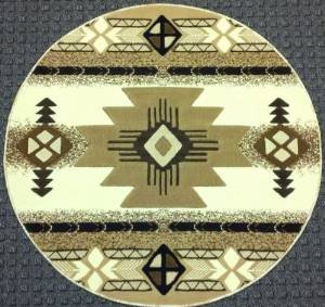 Amazon Com Southwest Round Native American Area Rug Ivory