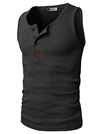 h2h mens fashion sleeveless basic sport tank top of