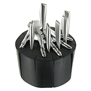 Five Finger Fillet Black Steak Knife Holder Designed By Raffaele Iannello