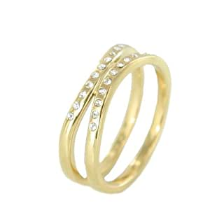 Skagen Designs UK Damen-Ring Edelstahl Swarovski-Kristall 52 (16.6) JRSG027S6
