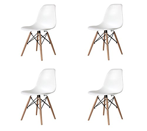 PACK 4 CHAISES TOWER WOOD