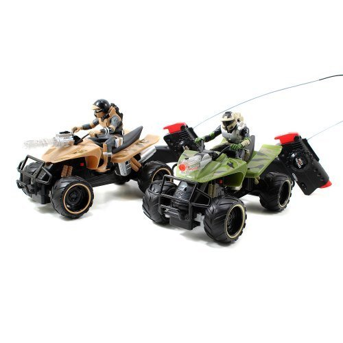 Jada Toys Battle Machines Radio Control Quad Bike - Blue/Red (Battle Machines compare prices)
