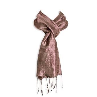 Red Blossom Women's Scarf - Raw Silk (Clay)