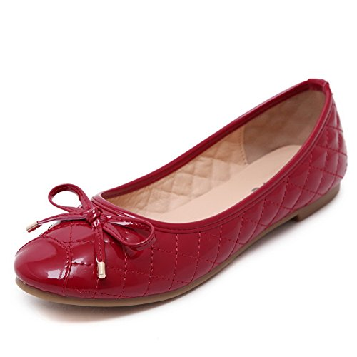 weenfashion-womens-patent-leather-round-closed-toe-flats-shoes-with-knot-redsmallbows-37