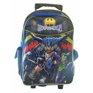 Batman Rolling Backpack - Boys Rolling School Bag