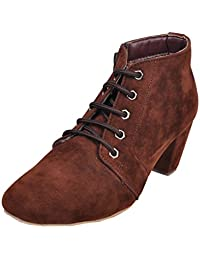 Leather Wood Brown Boot For Women