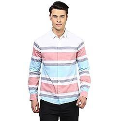 Atorse Mens Stripe Printed Casual Shirt