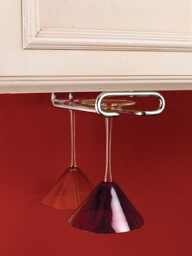 Rev-A-Shelf RS3150.11CR 11 ft. D Single Stemware Rack-Chrome