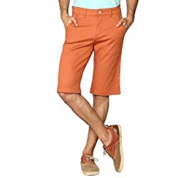 Provogue Men's Blended Shorts (8903522460081_103787-RE-231-36_Red)