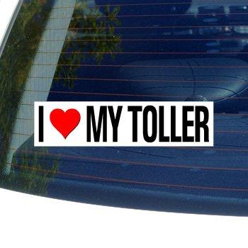 I Love Heart My TOLLER - NOVA SCOTIA DUCK TOLLING RETRIEVER - Dog Breed - Window Bumper Sticker