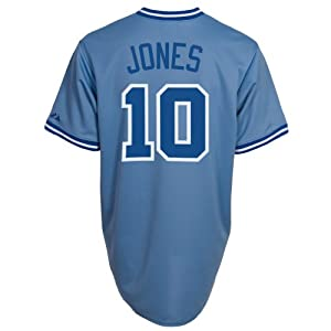 Chipper Jones Majestic Authentic 2010 On Field Throwback Jersey by Majestic