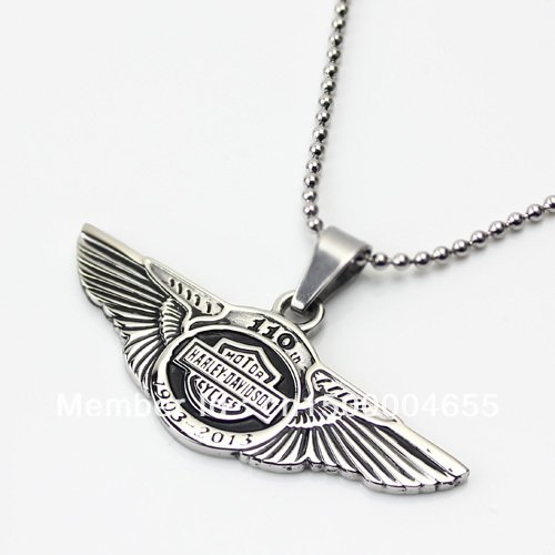 HARLEY Style 110TH Anniversary PENDANT NECKLACE BIKER HOG ROCKER - FREE SHIPPING from USA