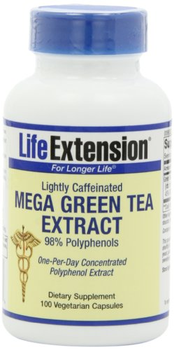 Life Extension Mega Green Tea Extract 98% Polyphenols, Vegetarian Capsules, 100-Count