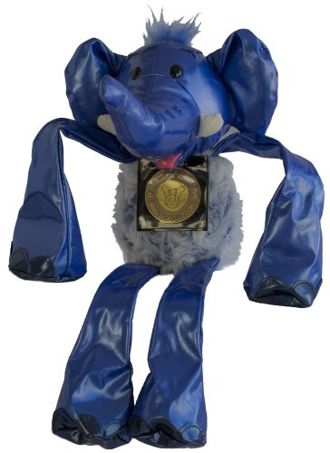 Skoodlez Elephant - Tubular - Blue vinyl with blue/white plush