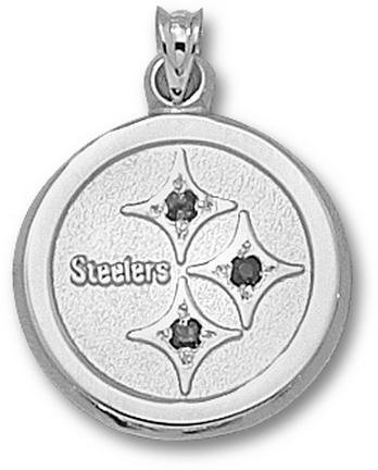 Pittsburgh Steelers NFL Sterling Silver 3/4 Charm