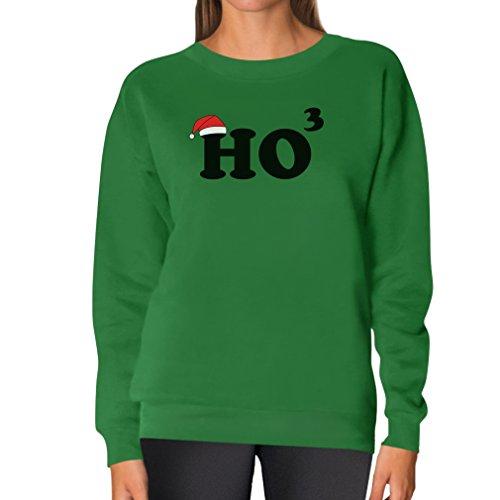 Teestars Women'S - Ho Ho Ho Cubed Sweatshirt X-Large Green