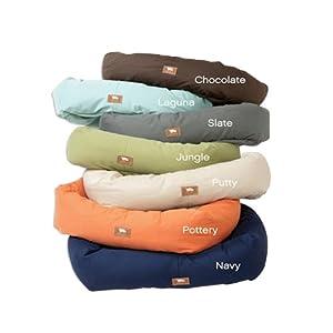 West Paw Design Bumper Dog Bed, Medium, Putty/Pottery